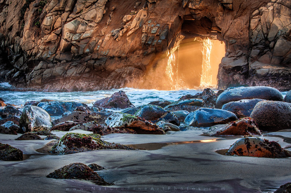 Pfeiffer Beach Keyhole Rays in Big Sur photo