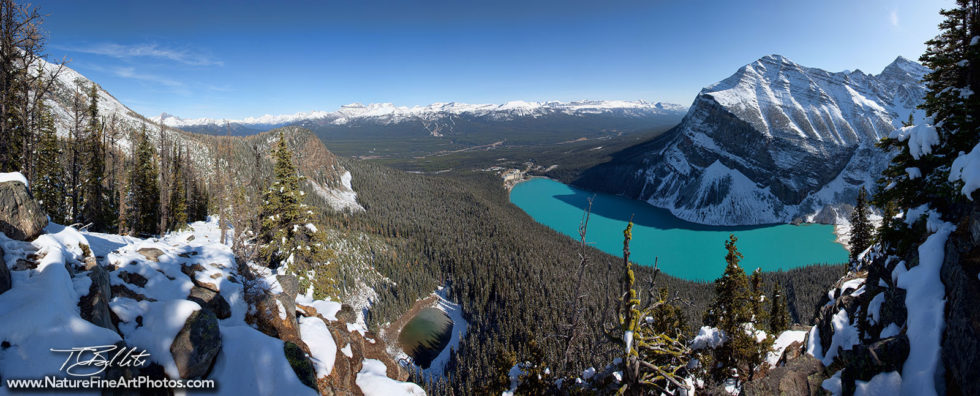Panorama Photo of Lake Louise Beehive