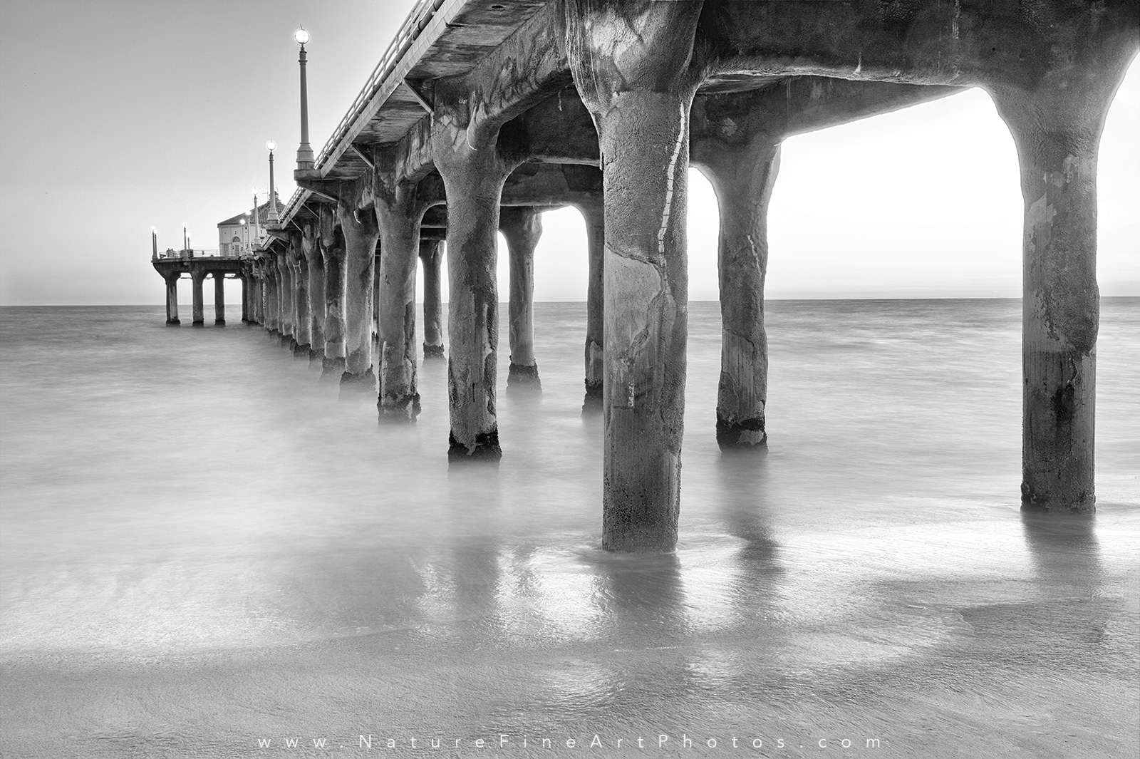 Black and White Photo of Manhattan Beach Pier