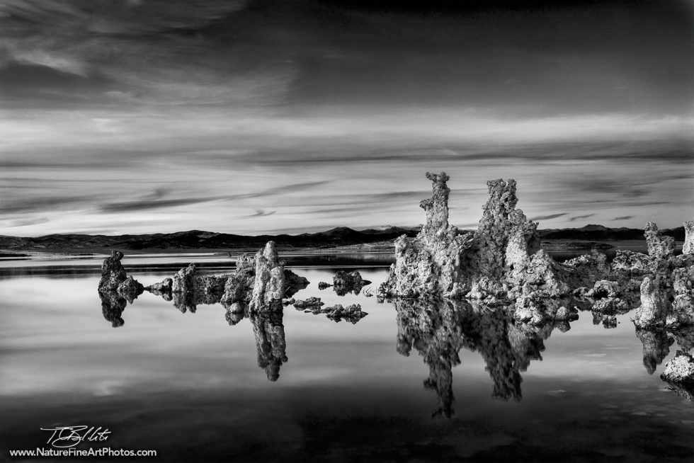 Black and White Photo of Mono Lake