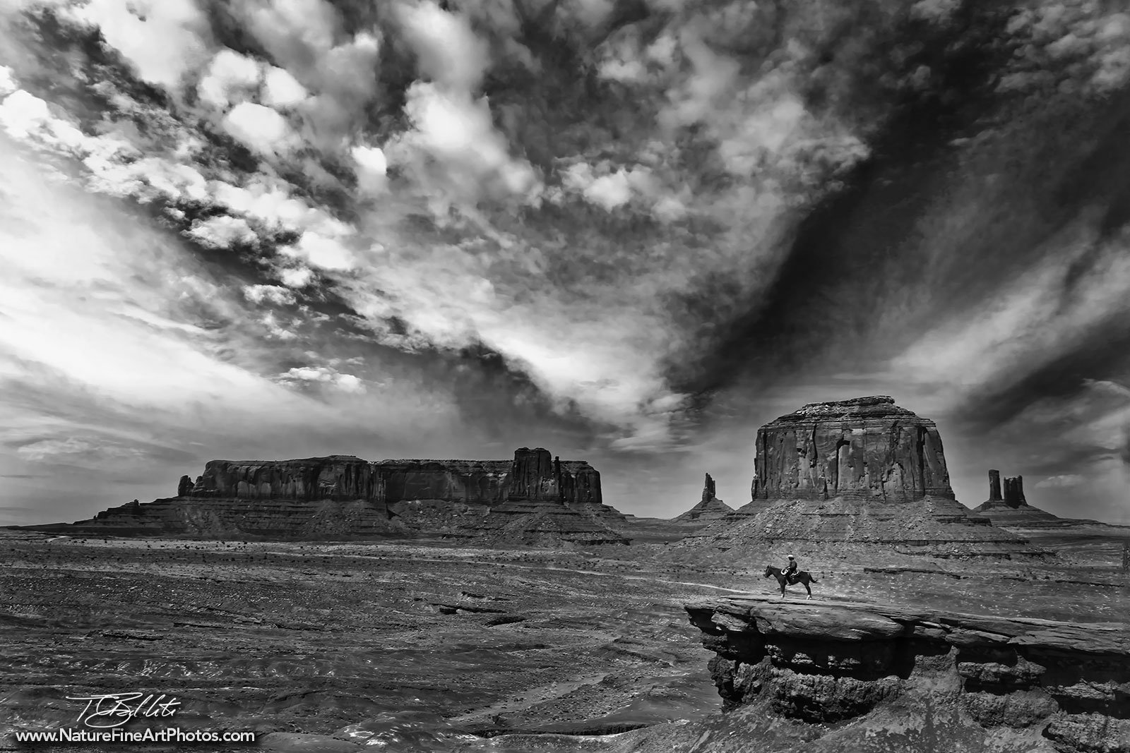 Photo · monument valley navajo horse rider · monument valley black white
