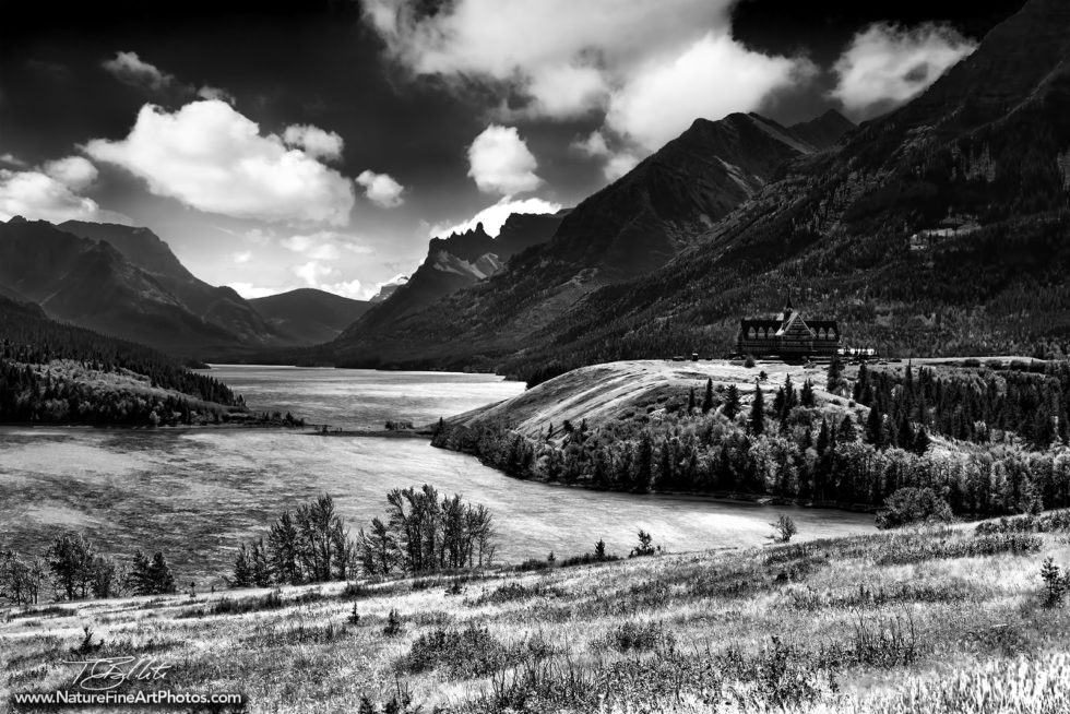 Black and White Photo of Wateron Lake