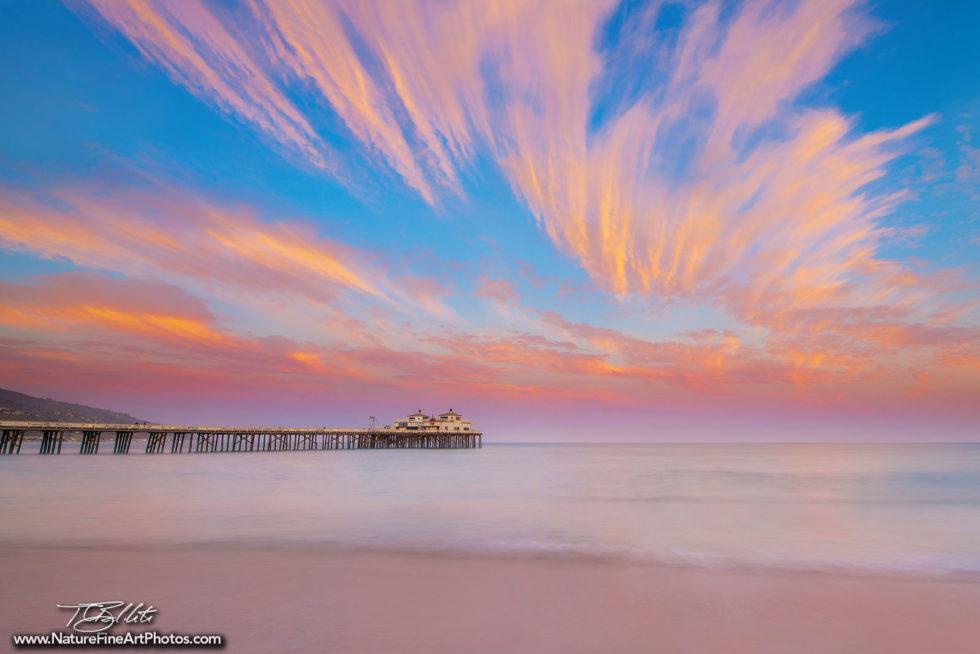 Sunset Photo of Malibu Pier
