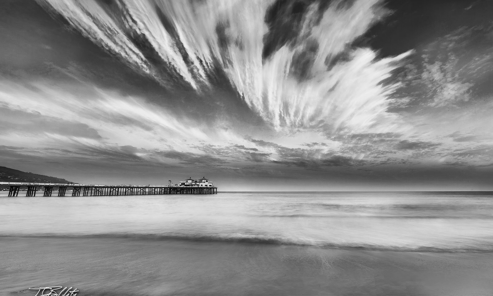 Malibu beach pier nature fine art photo