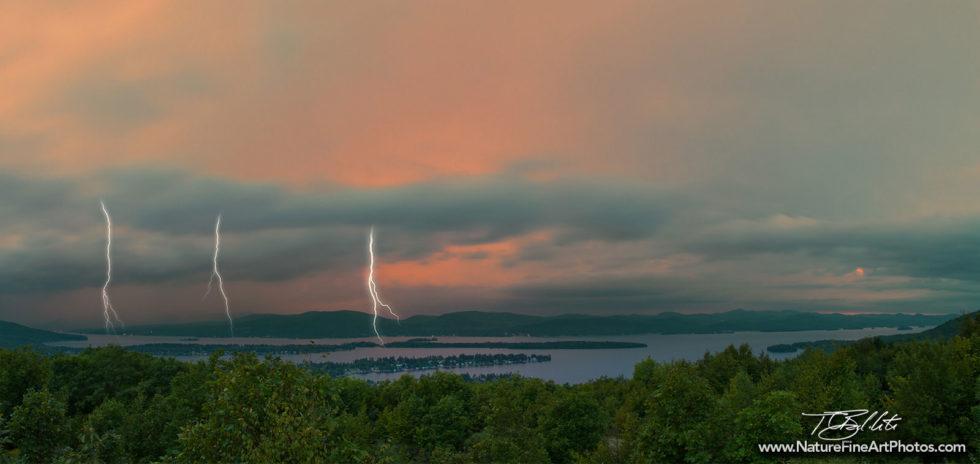 Lightning Photo of Lake George Storm