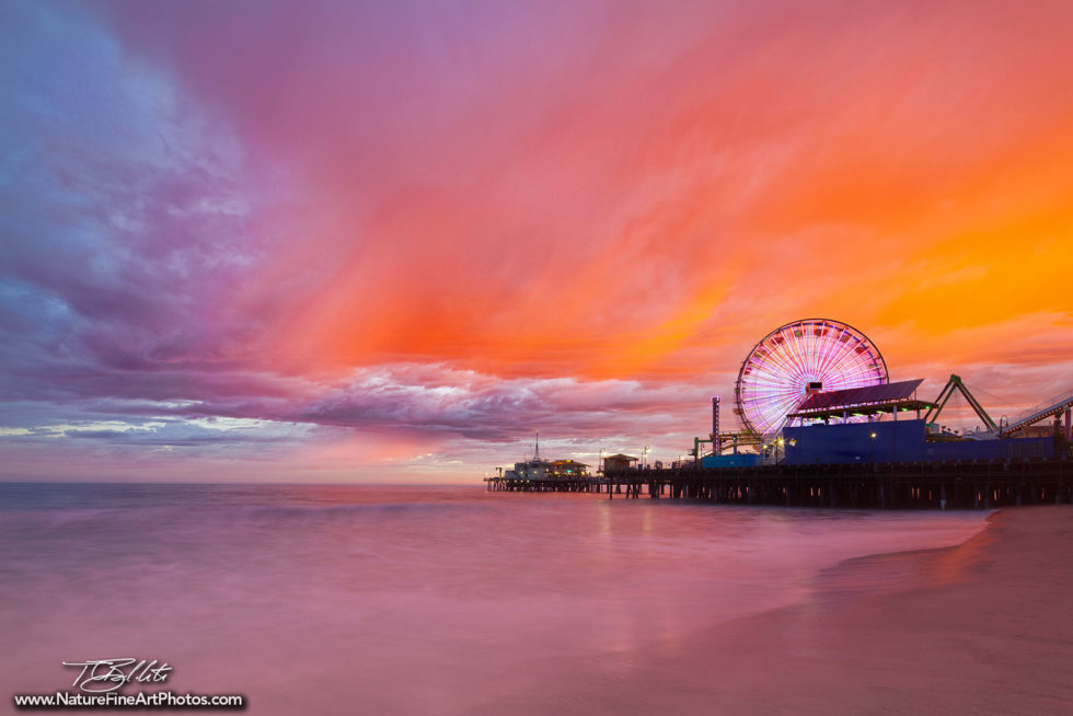 Sunset Photo of the Santa Monica Pier