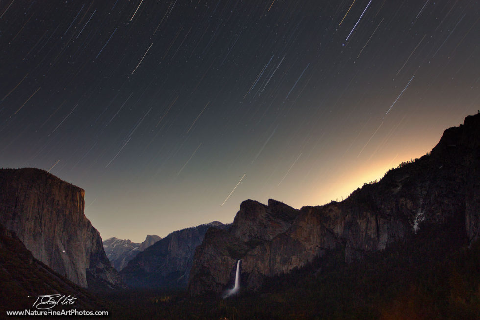 Nature Photo of Star Trails in Yosemite