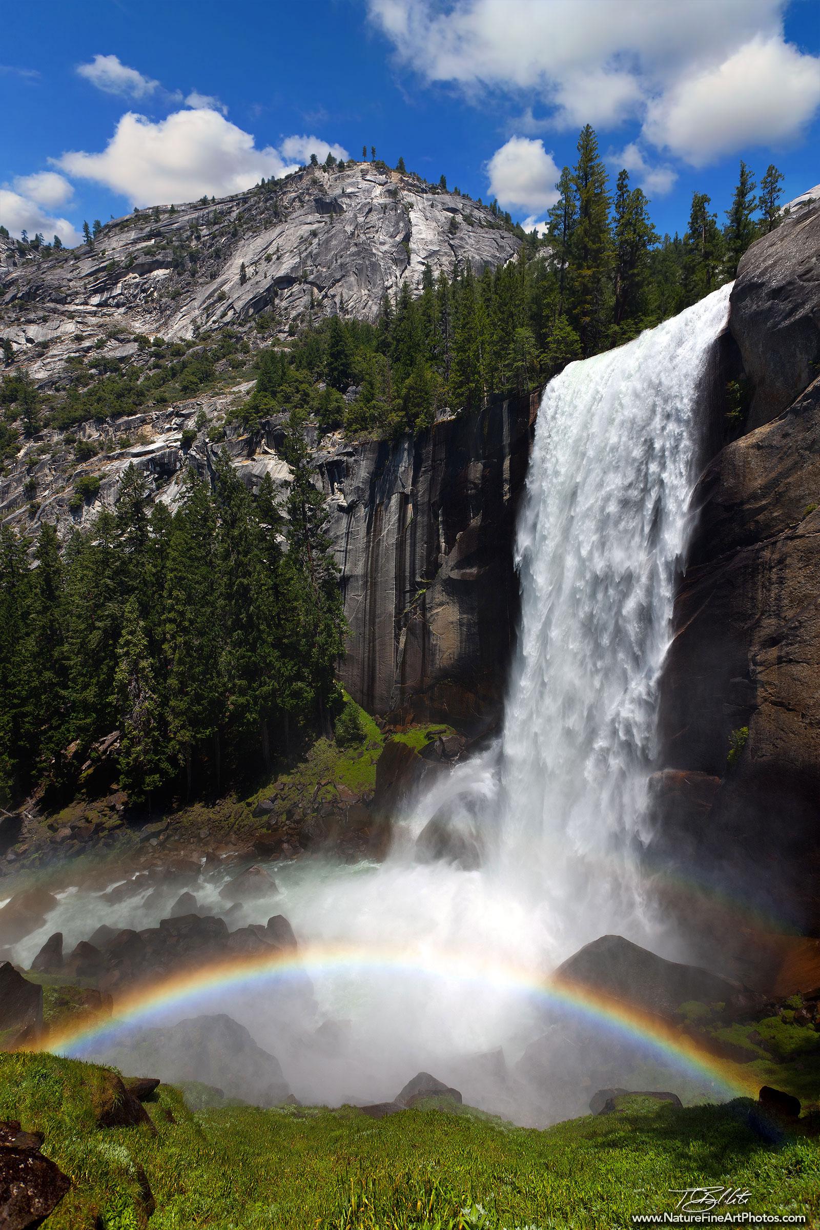 Rainbow below Vernal Fall: Mist Trail, Yosemite National ...   Yosemite Vernal Falls Rainbow