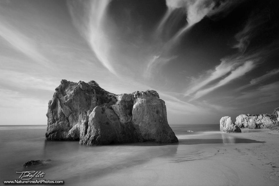 El Matador Black and White Beach Photo