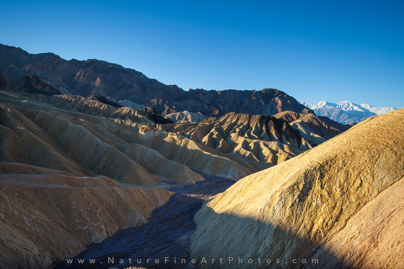Zabriski point overlook in Death Valley photo