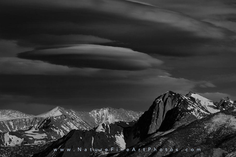 cloud over Mammoth Mountain Peaks photo
