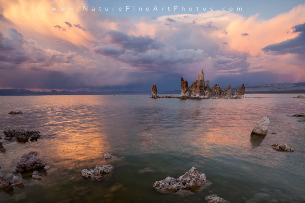 mono lake reflection at sunset photograph