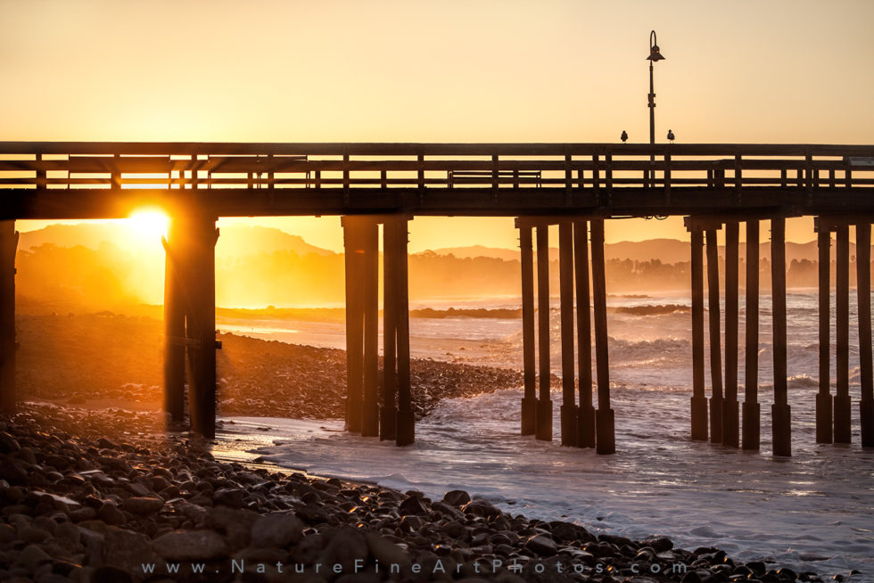 sunrise on ventura beach pier photograph