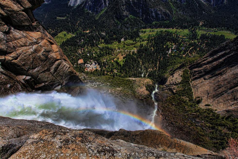 upper yosemite waterfalls overlook photo