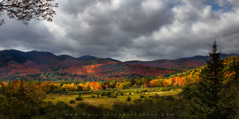 photo of fall foliage in Keene Valley