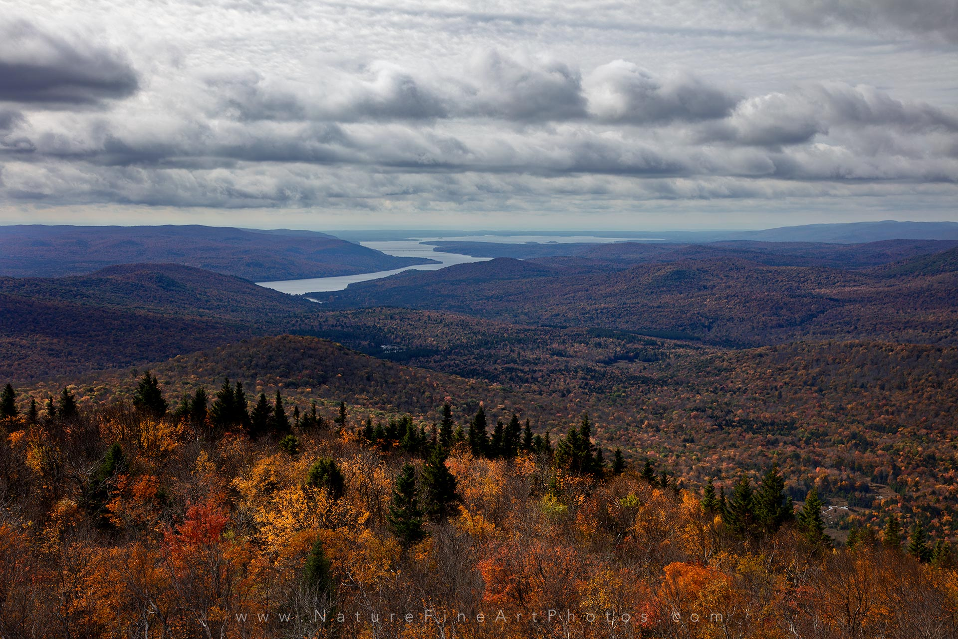 Mount Hadley during fall foliage